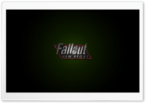 Fallout New Vegas, Logo Green HD Wide Wallpaper for Widescreen