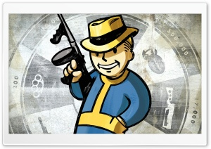 Fallout New Vegas, Vault Boy HD Wide Wallpaper for Widescreen