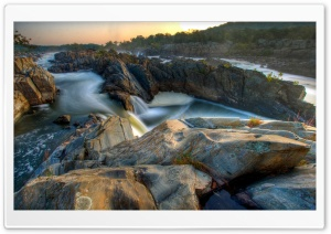 Falls And Rocks HD Wide Wallpaper for Widescreen
