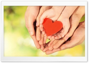 Family Love Hands HD Wide Wallpaper for Widescreen