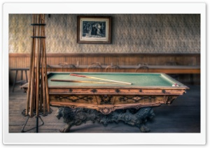 Famliy Billiards Table HD Wide Wallpaper for Widescreen