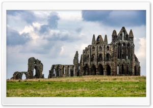 Famous Whitby Abbey monastery, Ruins HD Wide Wallpaper for 4K UHD Widescreen desktop & smartphone