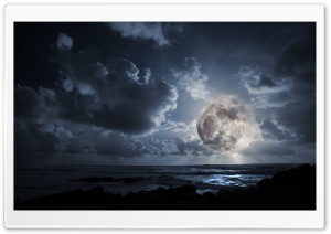 Fantastic Moon HD Wide Wallpaper for Widescreen