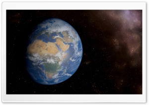 Fantastic Space View of Earth in 8k Resolution HD Wide Wallpaper for Widescreen