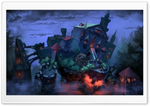 Fantasy Art Castle HD Wide Wallpaper for Widescreen