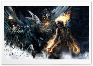 Fantasy Battle Art HD Wide Wallpaper for Widescreen