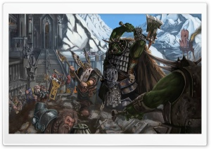 Fantasy Battles HD Wide Wallpaper for Widescreen