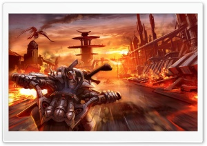 Fantasy Biker HD Wide Wallpaper for Widescreen