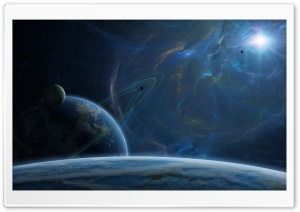 Fantasy Blue Space HD Wide Wallpaper for Widescreen