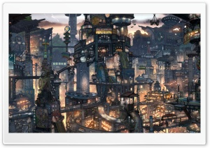 Fantasy City HD Wide Wallpaper for Widescreen