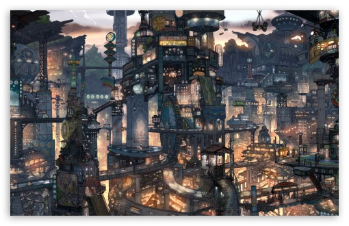 Fantasy City HD wallpaper for Wide 16:10 5:3 Widescreen WHXGA WQXGA WUXGA WXGA WGA ; HD 16:9 High Definition WQHD QWXGA 1080p 900p 720p QHD nHD ; Standard 3:2 Fullscreen DVGA HVGA HQVGA devices ( Apple PowerBook G4 iPhone 4 3G 3GS iPod Touch ) ; Mobile 5:3 3:2 16:9 - WGA DVGA HVGA HQVGA devices ( Apple PowerBook G4 iPhone 4 3G 3GS iPod Touch ) WQHD QWXGA 1080p 900p 720p QHD nHD ;