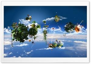 Fantasy Floating Islands In The Sky Ultra HD Wallpaper for 4K UHD Widescreen desktop, tablet & smartphone