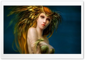 Fantasy Girl Art HD Wide Wallpaper for Widescreen