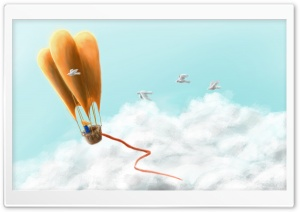 Fantasy Hot Air Balloon Travel HD Wide Wallpaper for Widescreen