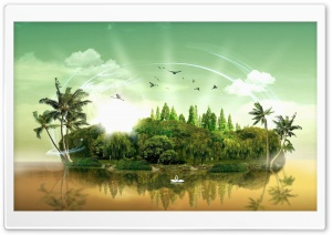 Fantasy Island HD Wide Wallpaper for Widescreen
