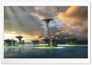 Fantasy Islands HD Wide Wallpaper for Widescreen