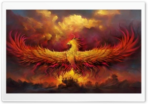 Fantasy Phoenix HD Wide Wallpaper for 4K UHD Widescreen desktop & smartphone