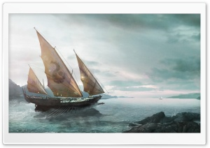 Fantasy Ship HD Wide Wallpaper for Widescreen
