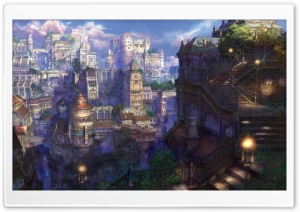 Fantasy Town HD Wide Wallpaper for Widescreen
