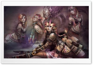 Fantasy Tribe Girls HD Wide Wallpaper for 4K UHD Widescreen desktop & smartphone