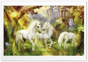 Fantasy Unicorns HD Wide Wallpaper for Widescreen