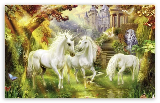 Fantasy Unicorns HD wallpaper for Wide 16:10 5:3 Widescreen WHXGA WQXGA WUXGA WXGA WGA ; HD 16:9 High Definition WQHD QWXGA 1080p 900p 720p QHD nHD ; Standard 4:3 5:4 3:2 Fullscreen UXGA XGA SVGA QSXGA SXGA DVGA HVGA HQVGA devices ( Apple PowerBook G4 iPhone 4 3G 3GS iPod Touch ) ; iPad 1/2/Mini ; Mobile 4:3 5:3 3:2 16:9 5:4 - UXGA XGA SVGA WGA DVGA HVGA HQVGA devices ( Apple PowerBook G4 iPhone 4 3G 3GS iPod Touch ) WQHD QWXGA 1080p 900p 720p QHD nHD QSXGA SXGA ;