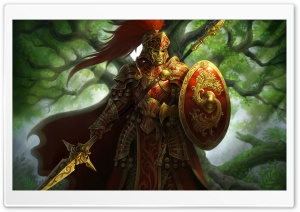 Fantasy Warrior HD Wide Wallpaper for Widescreen