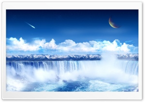 Fantasy Waterfall HD Wide Wallpaper for Widescreen