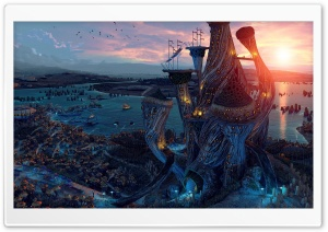 Fantasy World Art HD Wide Wallpaper for Widescreen