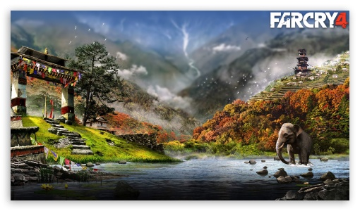 Far Cry 4 HD wallpaper for HD 16:9 High Definition WQHD QWXGA 1080p 900p 720p QHD nHD ; Tablet 1:1 ; iPad 1/2/Mini ; Mobile 4:3 5:3 3:2 16:9 - UXGA XGA SVGA WGA DVGA HVGA HQVGA devices ( Apple PowerBook G4 iPhone 4 3G 3GS iPod Touch ) WQHD QWXGA 1080p 900p 720p QHD nHD ;