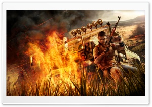 Far Cry 2 Fire HD Wide Wallpaper for Widescreen