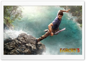 Far Cry 3 Jump HD Wide Wallpaper for Widescreen