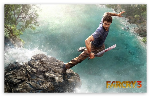 Far Cry 3 Jump HD wallpaper for Wide 16:10 5:3 Widescreen WHXGA WQXGA WUXGA WXGA WGA ; HD 16:9 High Definition WQHD QWXGA 1080p 900p 720p QHD nHD ; Standard 4:3 3:2 Fullscreen UXGA XGA SVGA DVGA HVGA HQVGA devices ( Apple PowerBook G4 iPhone 4 3G 3GS iPod Touch ) ; iPad 1/2/Mini ; Mobile 4:3 5:3 3:2 16:9 - UXGA XGA SVGA WGA DVGA HVGA HQVGA devices ( Apple PowerBook G4 iPhone 4 3G 3GS iPod Touch ) WQHD QWXGA 1080p 900p 720p QHD nHD ;