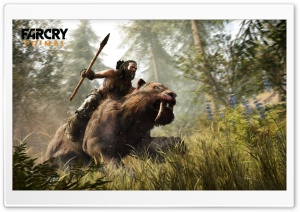 Far Cry Primal Sabertooth Beastmaster HD Wide Wallpaper for Widescreen