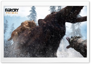 Far Cry Primal Tiger vs Mammoth HD Wide Wallpaper for Widescreen