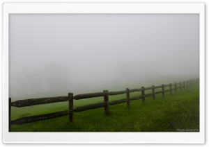 Farm Fence   Misty Day HD Wide Wallpaper for 4K UHD Widescreen desktop & smartphone