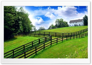 Farm Fencing HDR HD Wide Wallpaper for Widescreen
