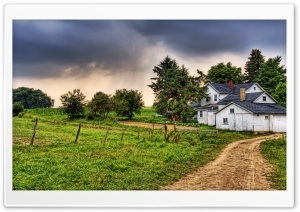 Farm HDR HD Wide Wallpaper for Widescreen