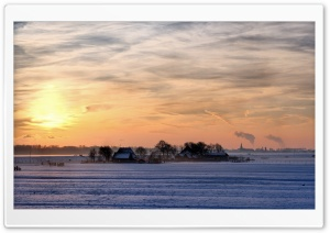 Farm In Winter HD Wide Wallpaper for Widescreen