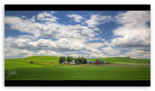 Farm on Joe Babbitt Road between Colfax and Pullman, Washington HD wallpaper for HD 16:9 High Definition WQHD QWXGA 1080p 900p 720p QHD nHD ; Mobile 16:9 - WQHD QWXGA 1080p 900p 720p QHD nHD ;