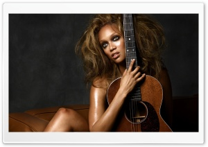 Fashion Model Tyra Banks HD Wide Wallpaper for Widescreen