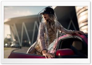 Fast Car Beautiful Woman HD Wide Wallpaper for 4K UHD Widescreen desktop & smartphone