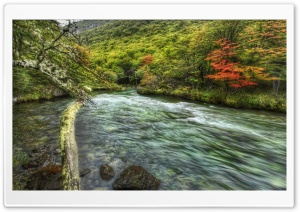 Fast Flowing River HD Wide Wallpaper for Widescreen