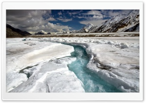 Fast River Ice Cold HD Wide Wallpaper for Widescreen