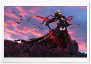 Fate Stay Night - Saber Alter HD Wide Wallpaper for Widescreen