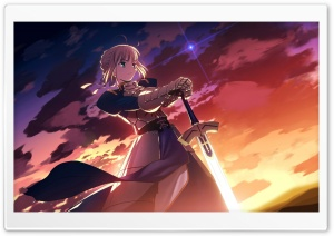 Fate Stay Night, Saber HD Wide Wallpaper for Widescreen