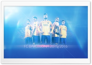 FC Barcelona 2015-2016 HD Wide Wallpaper for Widescreen