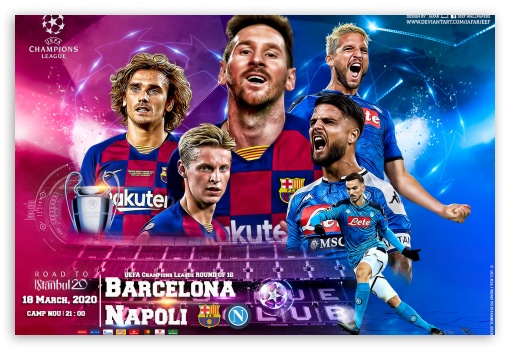 fc barcelona napoli champions league 2020 ultra hd desktop background wallpaper for wallpaperswide com