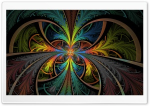 Feathered Stained Glass HD Wide Wallpaper for Widescreen