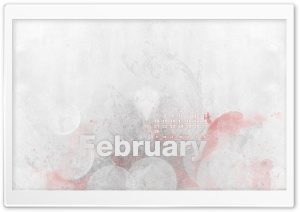February Calendar HD Wide Wallpaper for Widescreen